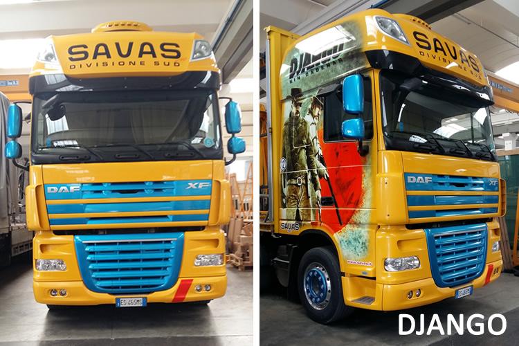 Autocarro DJango Savas per il trasporto del vetro